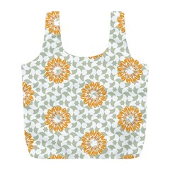 Stamping Pattern Fashion Background Full Print Recycle Bags (l)
