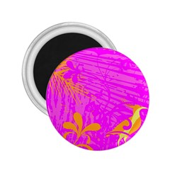 Spring Tropical Floral Palm Bird 2 25  Magnets by Nexatart
