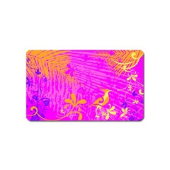 Spring Tropical Floral Palm Bird Magnet (name Card) by Nexatart