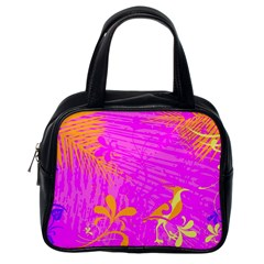 Spring Tropical Floral Palm Bird Classic Handbags (one Side) by Nexatart