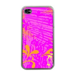 Spring Tropical Floral Palm Bird Apple Iphone 4 Case (clear) by Nexatart