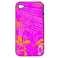 Spring Tropical Floral Palm Bird Apple Iphone 4/4s Hardshell Case (pc+silicone) by Nexatart