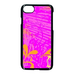 Spring Tropical Floral Palm Bird Apple Iphone 7 Seamless Case (black) by Nexatart