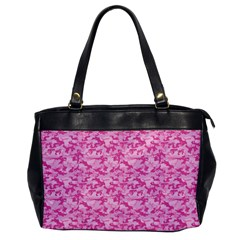 Shocking Pink Camouflage Pattern Office Handbags by tarastyle