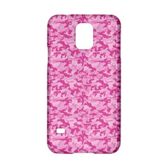 Shocking Pink Camouflage Pattern Samsung Galaxy S5 Hardshell Case  by tarastyle