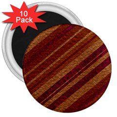 Stripes Course Texture Background 3  Magnets (10 Pack)  by Nexatart