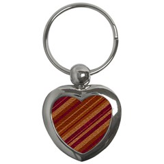 Stripes Course Texture Background Key Chains (heart)  by Nexatart