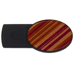 Stripes Course Texture Background Usb Flash Drive Oval (4 Gb) by Nexatart