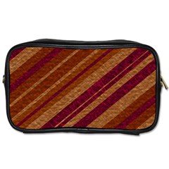 Stripes Course Texture Background Toiletries Bags by Nexatart
