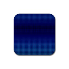 Blue Dot Rubber Square Coaster (4 Pack)  by PhotoNOLA