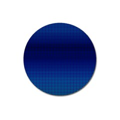 Blue Dot Magnet 3  (round) by PhotoNOLA