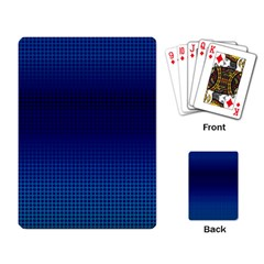 Blue Dot Playing Card by PhotoNOLA