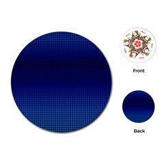 Blue Dot Playing Cards (round)  by PhotoNOLA