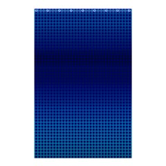 Blue Dot Shower Curtain 48  X 72  (small)  by PhotoNOLA