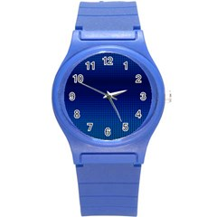 Blue Dot Round Plastic Sport Watch (s) by PhotoNOLA