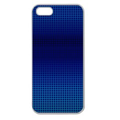 Blue Dot Apple Seamless Iphone 5 Case (clear) by PhotoNOLA