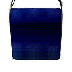 Blue Dot Flap Messenger Bag (l)  by PhotoNOLA
