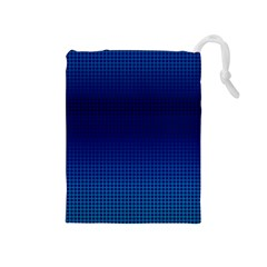 Blue Dot Drawstring Pouches (medium)  by PhotoNOLA