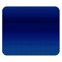 Blue Dot Double Sided Flano Blanket (small)  by PhotoNOLA