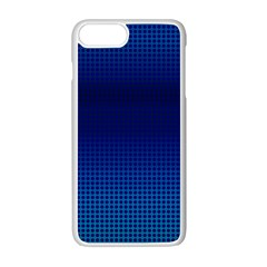 Blue Dot Apple Iphone 7 Plus White Seamless Case by PhotoNOLA
