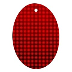 Redc Ornament (oval) by PhotoNOLA