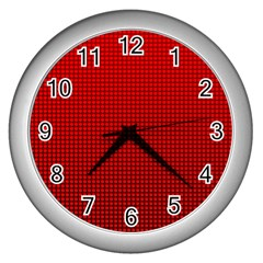 Redc Wall Clocks (silver)  by PhotoNOLA