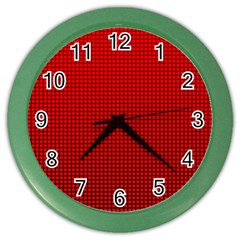 Redc Color Wall Clocks by PhotoNOLA