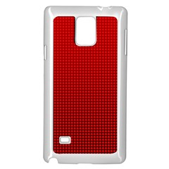 Redc Samsung Galaxy Note 4 Case (white) by PhotoNOLA