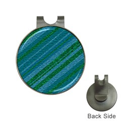Stripes Course Texture Background Hat Clips With Golf Markers by Nexatart