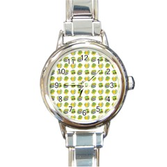 St Patrick S Day Background Symbols Round Italian Charm Watch by Nexatart