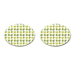 St Patrick S Day Background Symbols Cufflinks (oval) by Nexatart