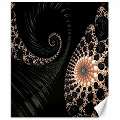 Fractal Black Pearl Abstract Art Canvas 8  X 10  by Nexatart