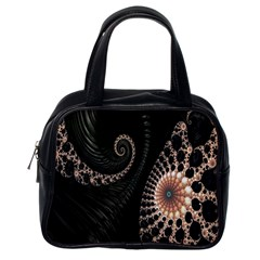 Fractal Black Pearl Abstract Art Classic Handbags (one Side) by Nexatart