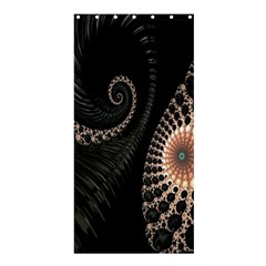 Fractal Black Pearl Abstract Art Shower Curtain 36  X 72  (stall)