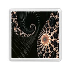 Fractal Black Pearl Abstract Art Memory Card Reader (square)  by Nexatart