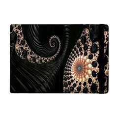 Fractal Black Pearl Abstract Art Apple Ipad Mini Flip Case by Nexatart