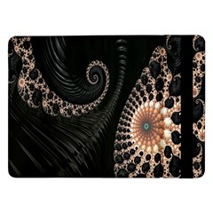 Fractal Black Pearl Abstract Art Samsung Galaxy Tab Pro 12 2  Flip Case