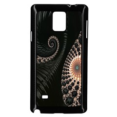 Fractal Black Pearl Abstract Art Samsung Galaxy Note 4 Case (black) by Nexatart