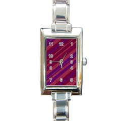 Stripes Course Texture Background Rectangle Italian Charm Watch by Nexatart