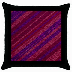 Stripes Course Texture Background Throw Pillow Case (black) by Nexatart