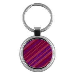 Stripes Course Texture Background Key Chains (round)  by Nexatart