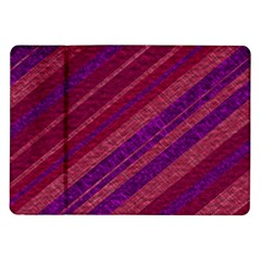 Stripes Course Texture Background Samsung Galaxy Tab 10 1  P7500 Flip Case by Nexatart