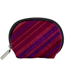 Stripes Course Texture Background Accessory Pouches (small)  by Nexatart