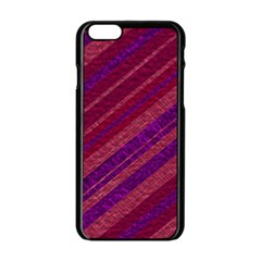 Stripes Course Texture Background Apple Iphone 6/6s Black Enamel Case by Nexatart