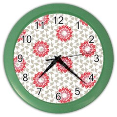 Stamping Pattern Fashion Background Color Wall Clocks