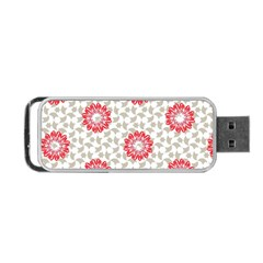 Stamping Pattern Fashion Background Portable Usb Flash (two Sides) by Nexatart