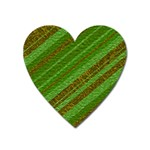 Stripes Course Texture Background Heart Magnet Front