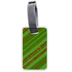 Stripes Course Texture Background Luggage Tags (one Side)  by Nexatart