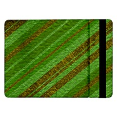 Stripes Course Texture Background Samsung Galaxy Tab Pro 12 2  Flip Case by Nexatart