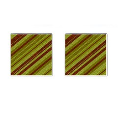 Stripes Course Texture Background Cufflinks (square) by Nexatart